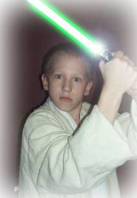 Seth with Lightsaber